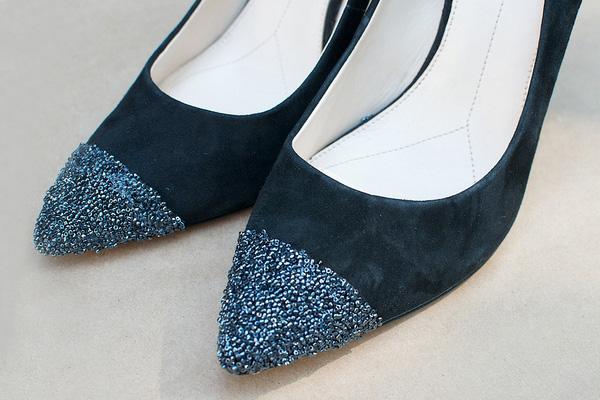 Simli oxford stili ayakkabılar